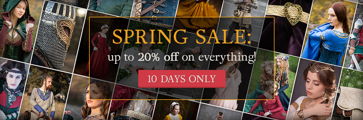 Spring sale: up to 20% on everything! 10 days only