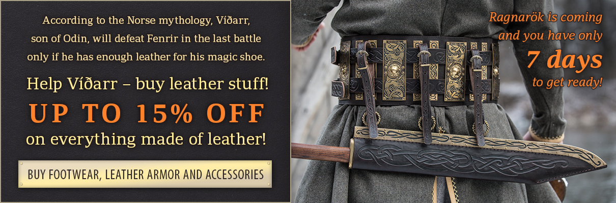 Days of leather! up to 20% off