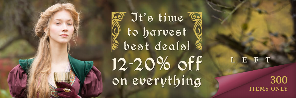 It's time to harvest best deals! 12-20% off on everything. 300 items only