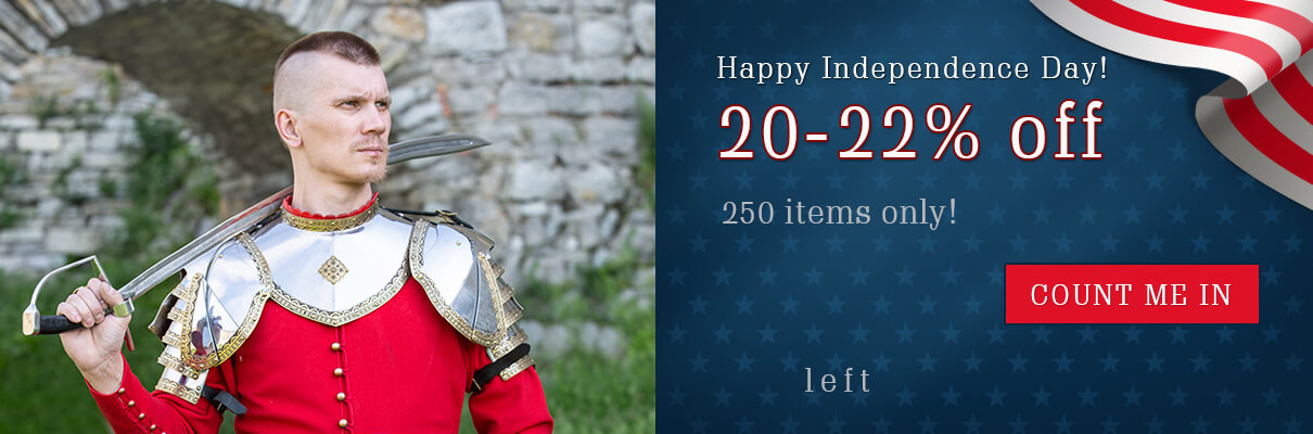 Happy Independence Day! 20-22% off. 250 items only!
