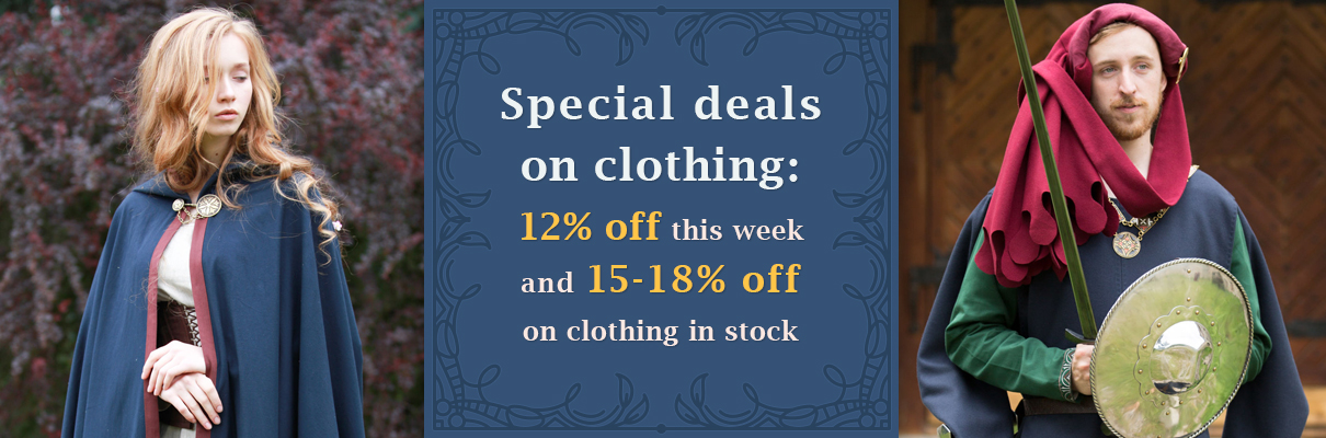 12-18% off on medieval costumes!