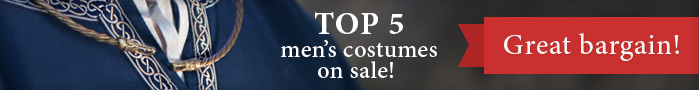 Top 5 men's costumes on sale! Great bargain!