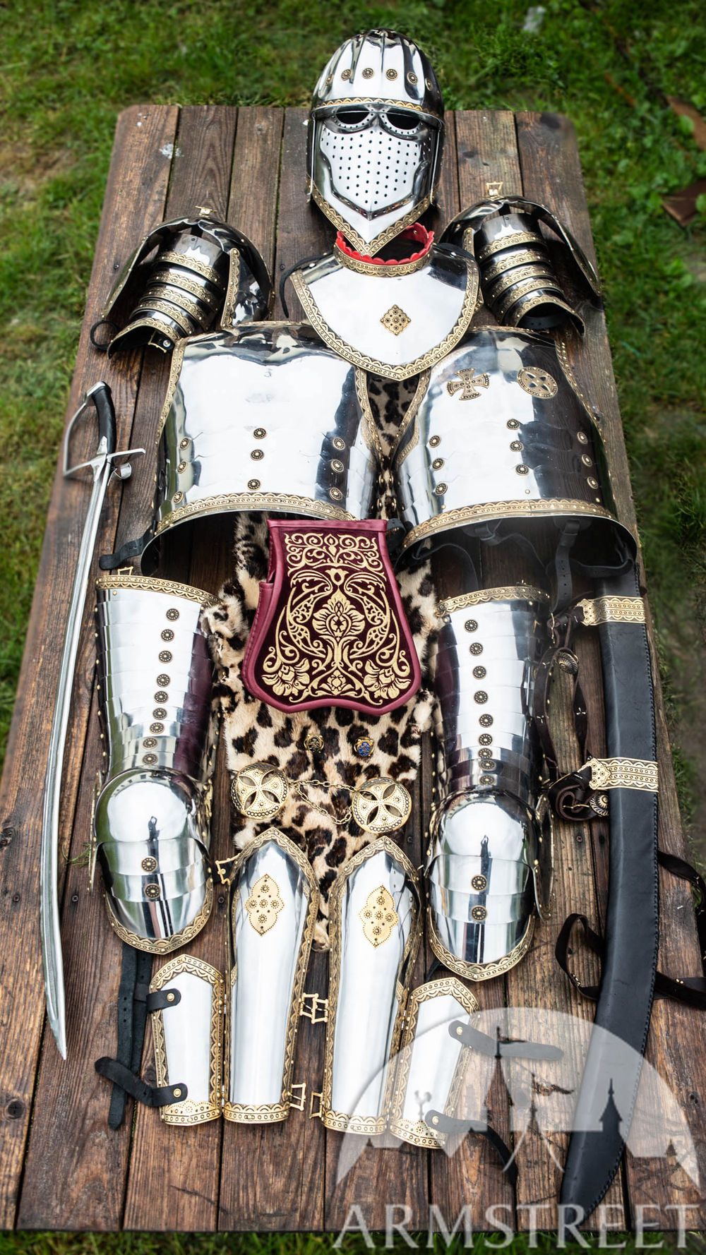 Polish Hussar Stainless Steel with Brass Accents Full Armor Set