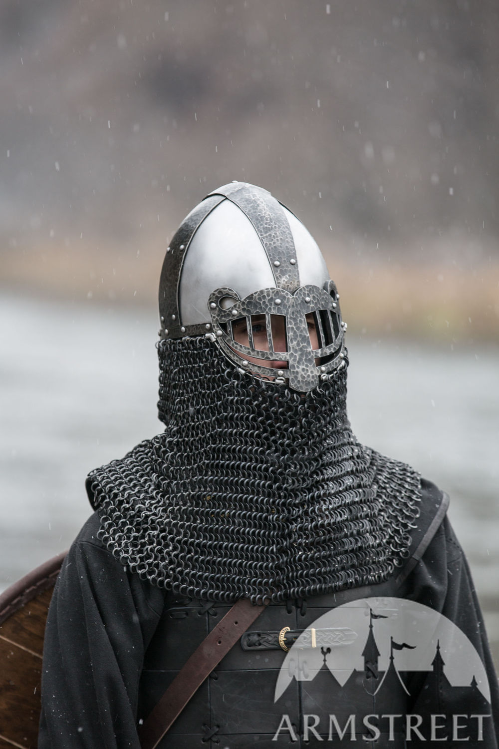 Viking Helmet with SCA-legal face protection