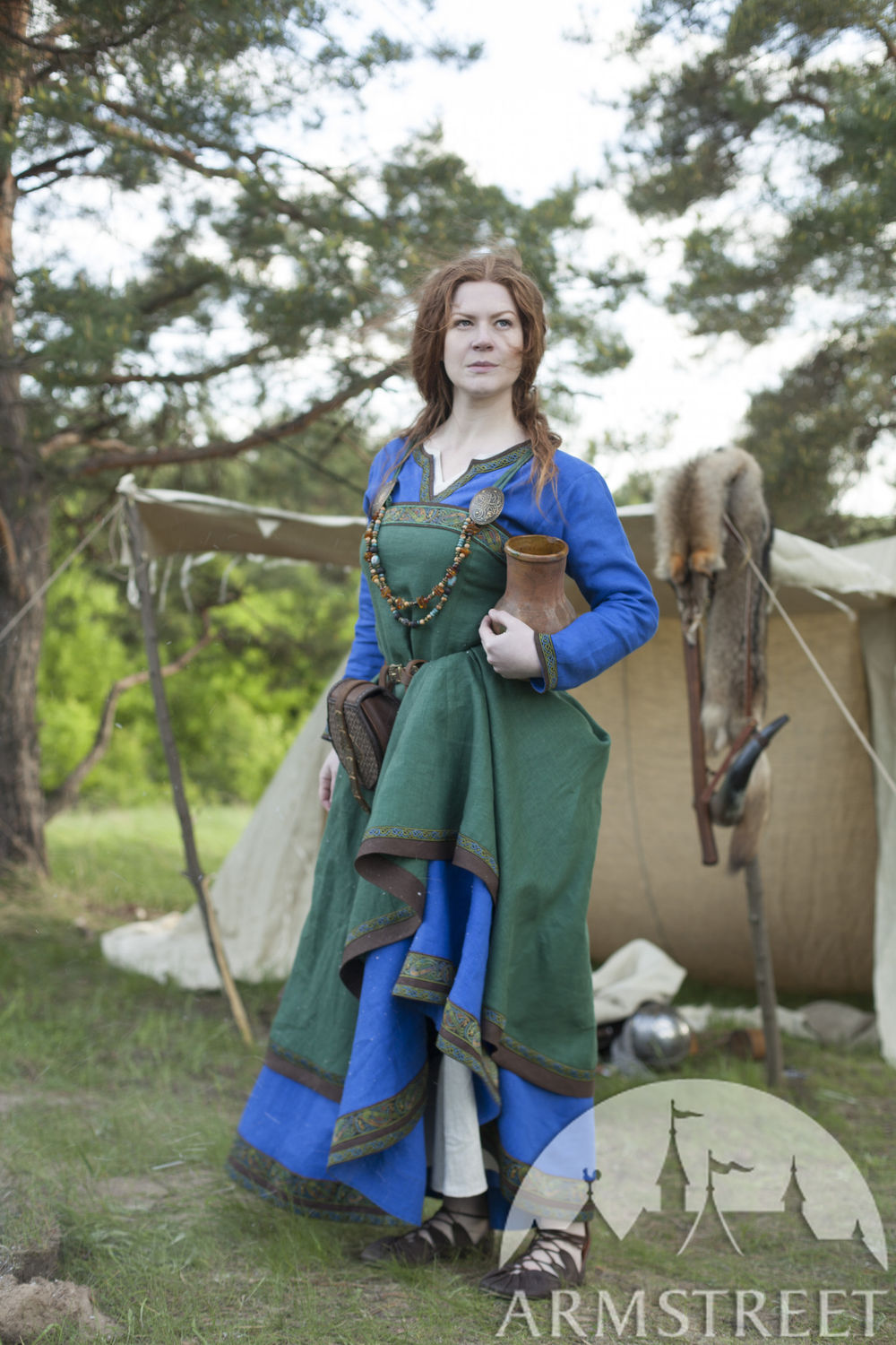 "Viking Apron and Dress costume ""Ingrid the Hearthkeeper"""