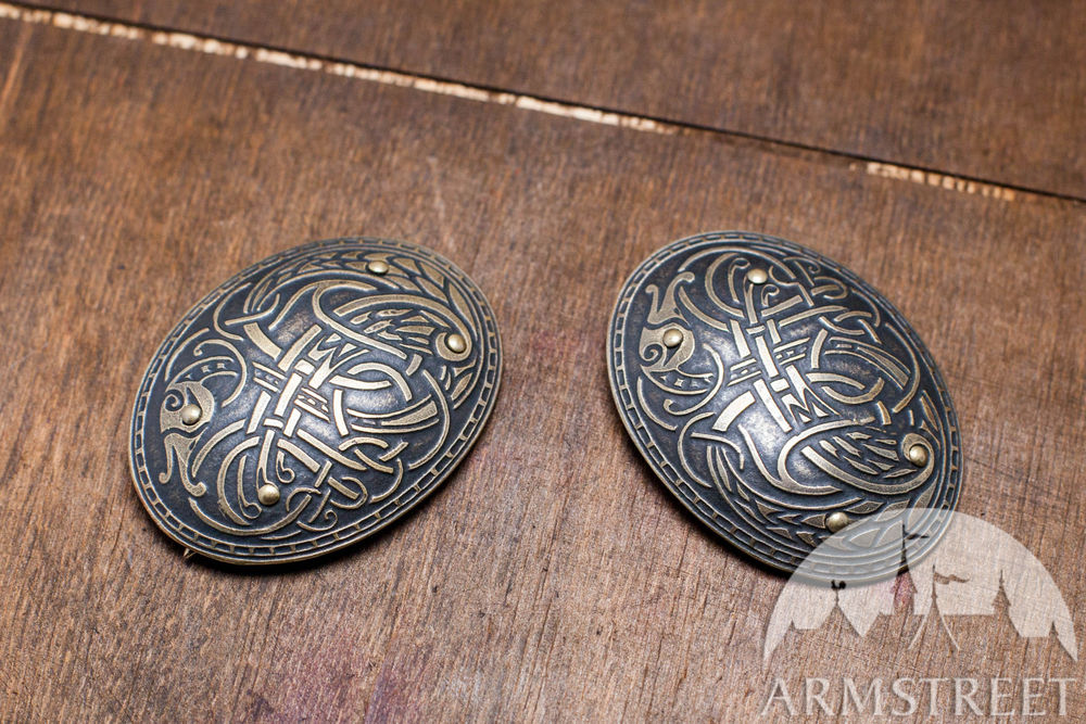 Viking Oval Apron Brooches