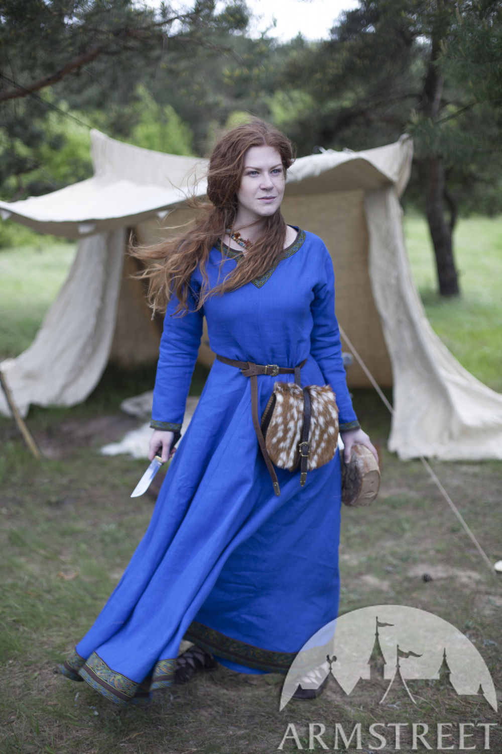 Viking Linen Dress Ingrid the Hearthkeeper