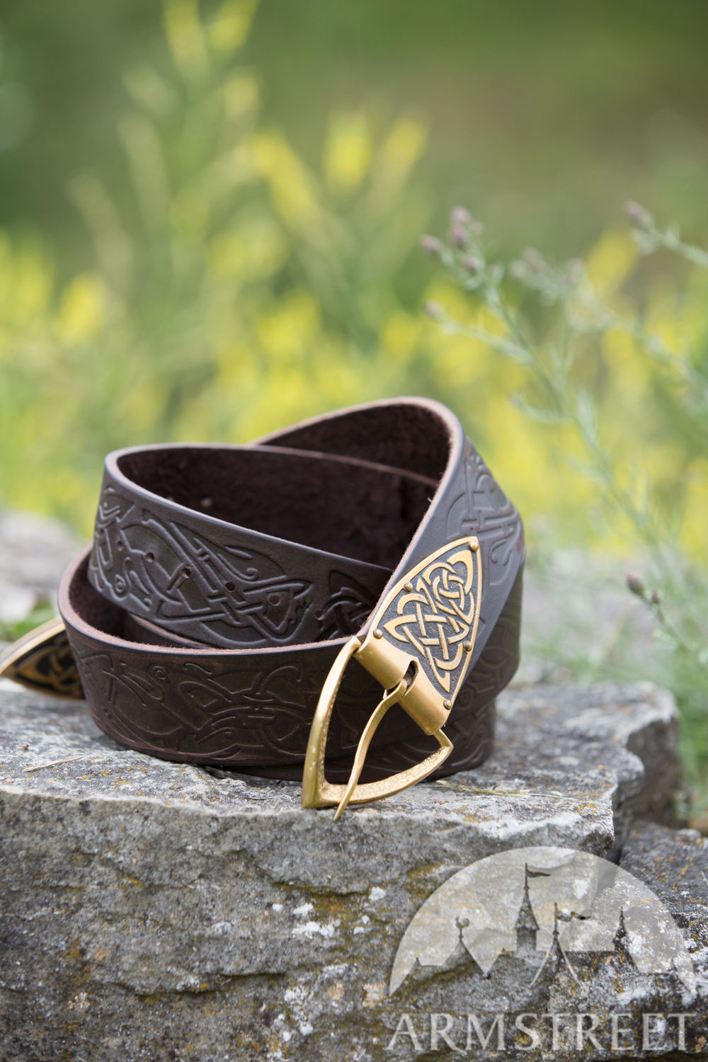 Leather Celtic Belt