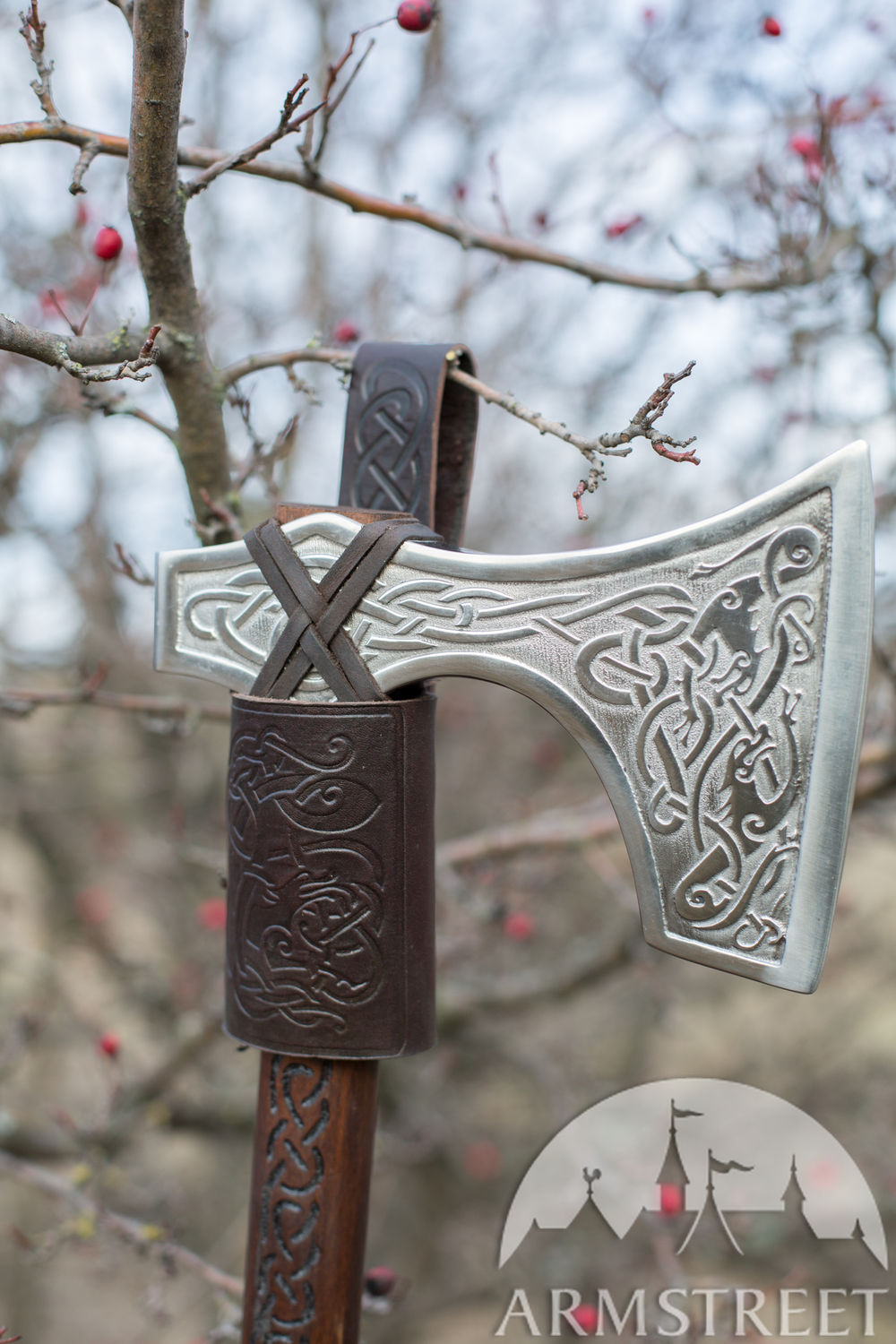 """Ragnvaldur the Traveller"" leather axe loop"