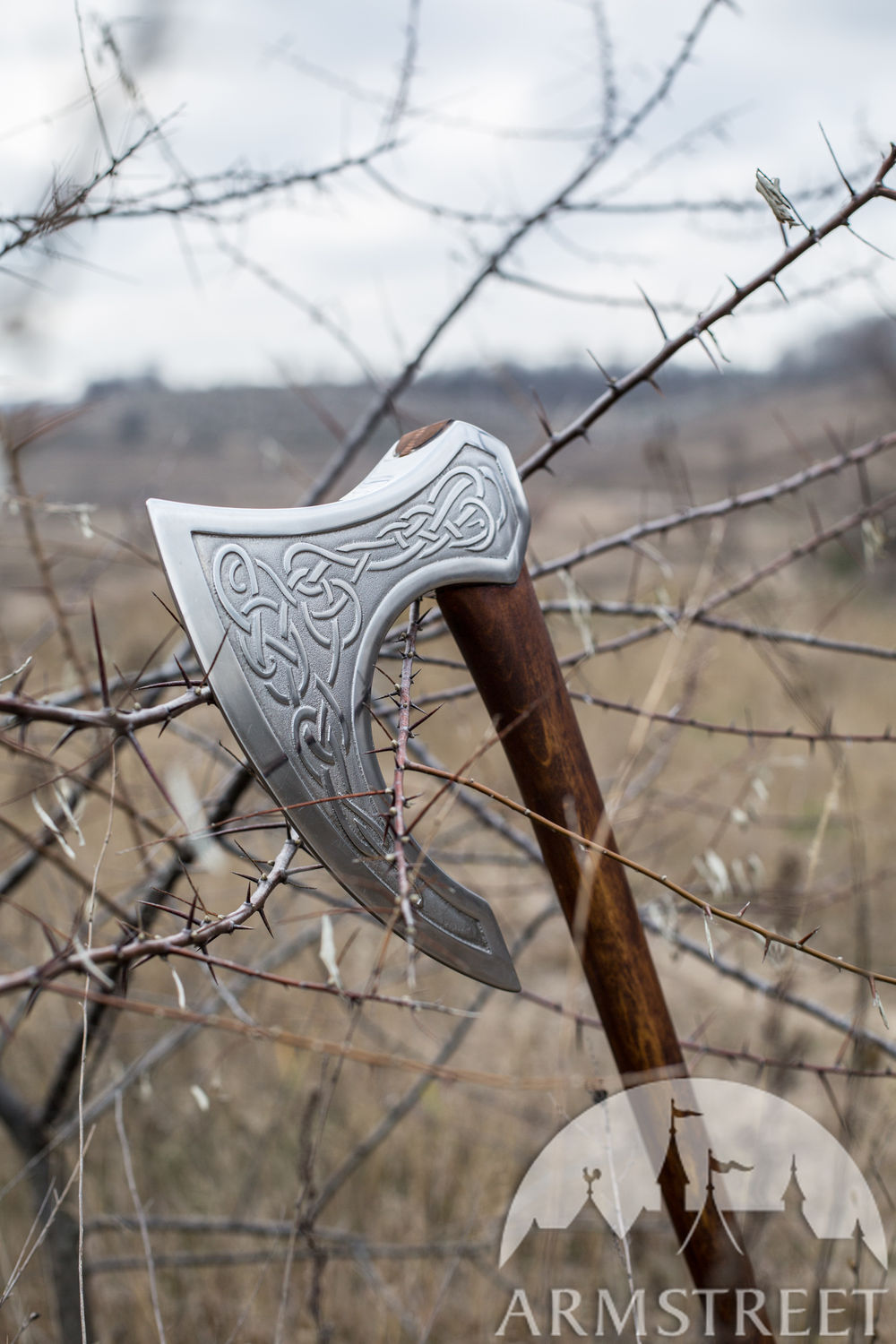 "Decorative weapon ""Ragnvaldur the Traveller"" Viking Axe Head"
