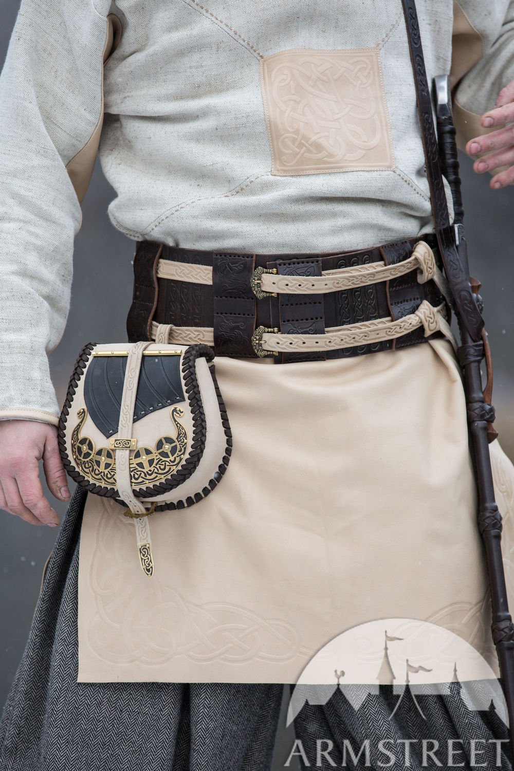 "Viking Leather Bag ""Drakkar"""
