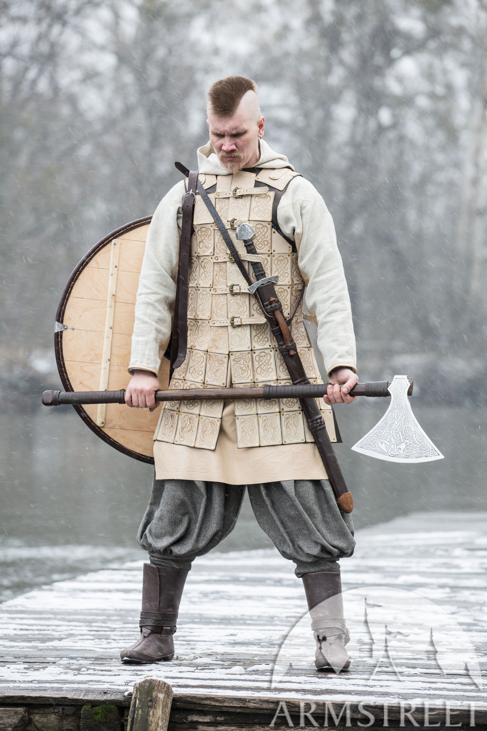 "Viking Leather Body Armor ""The Evening Star"""