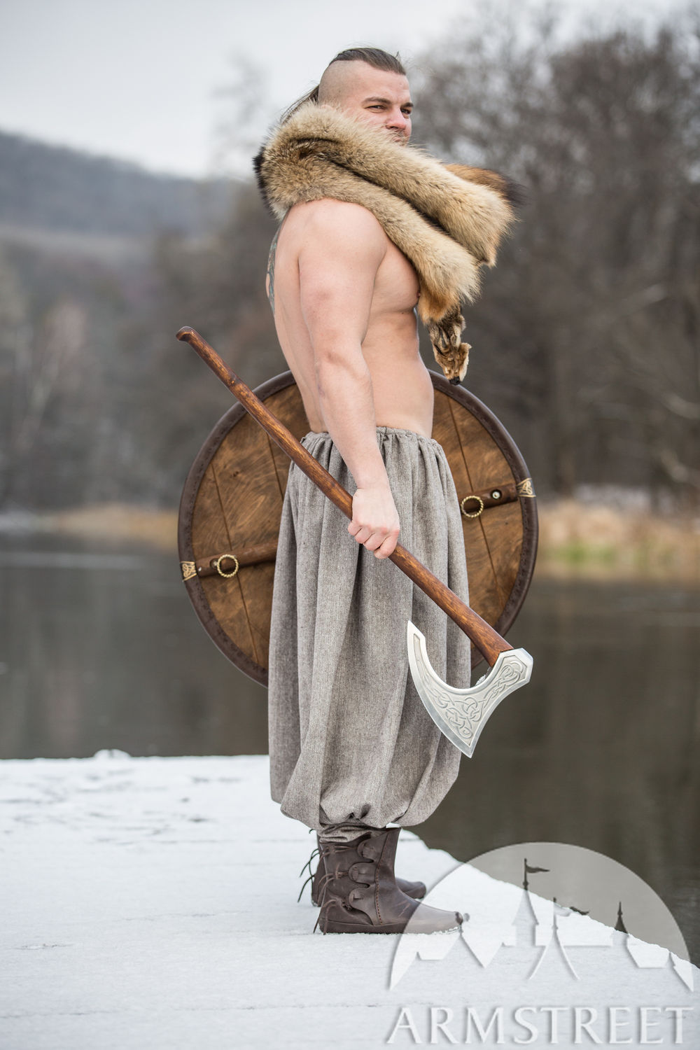 "Wool blend Viking Pants ""Olegg the Mercenary"""