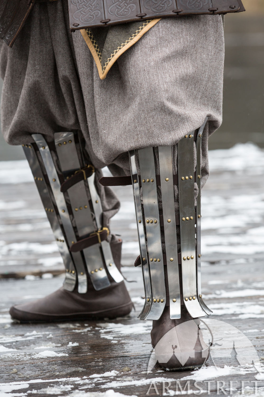 "Viking Splint Greaves ""Olegg the Mercenary"""