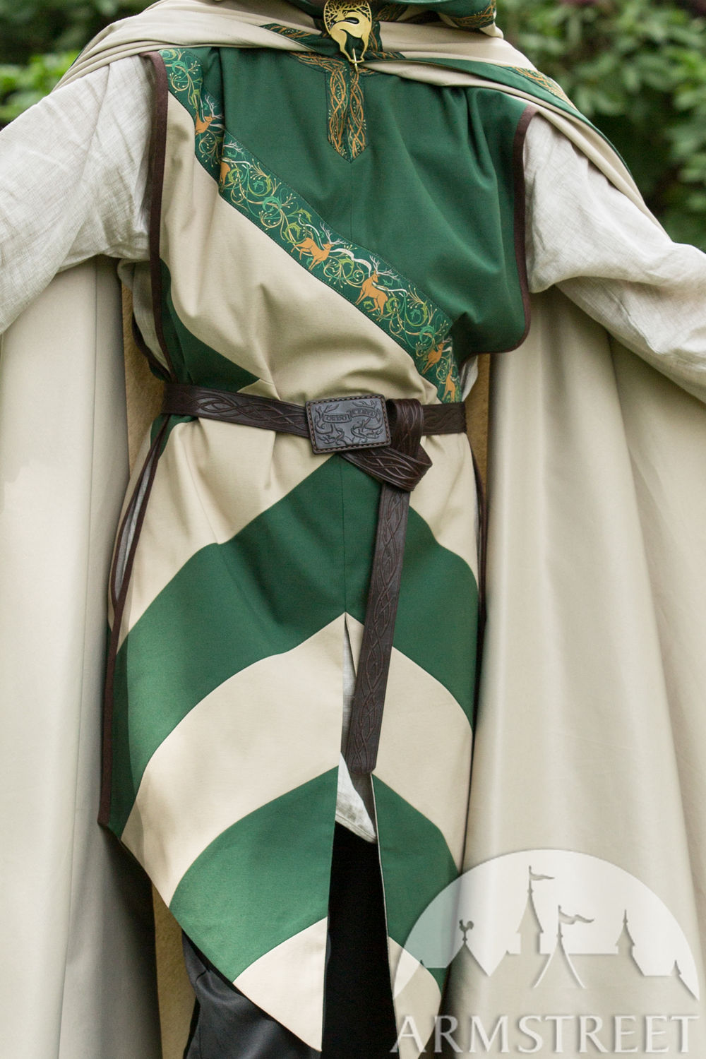 Custom tabards and cloak for the Ordo Cervi team at Bicolline