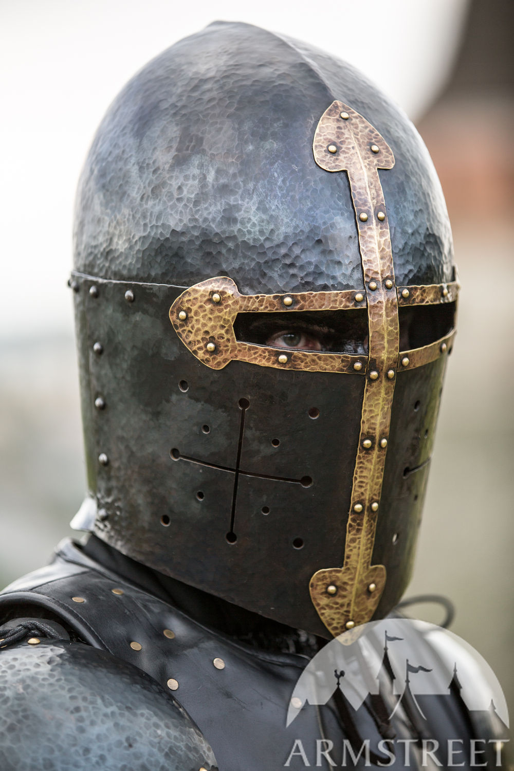 "Blackened Sugarloaf Helmet ""The Wayward Knight"""