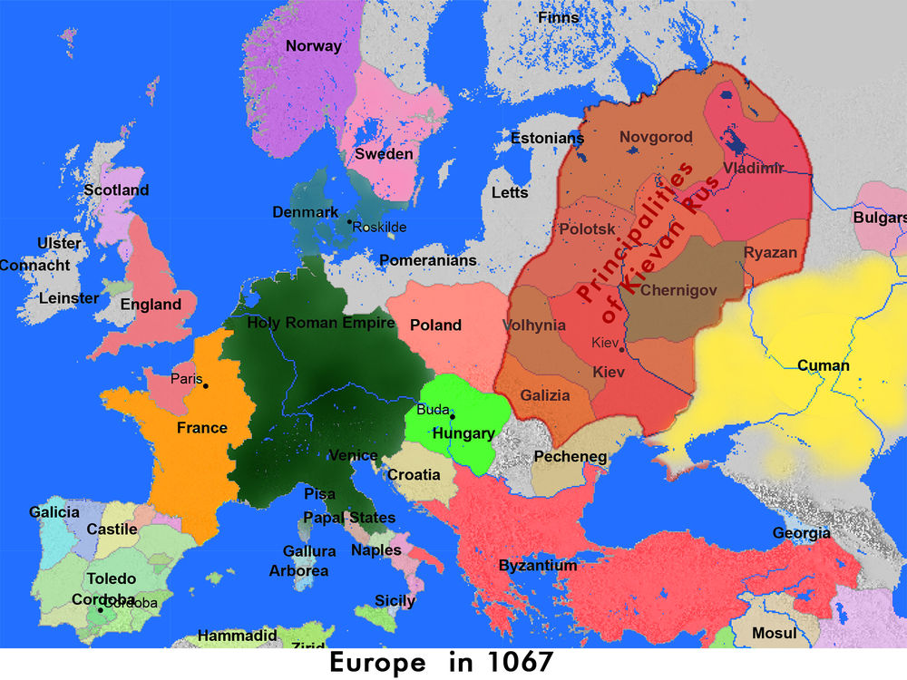 Europe in 1067