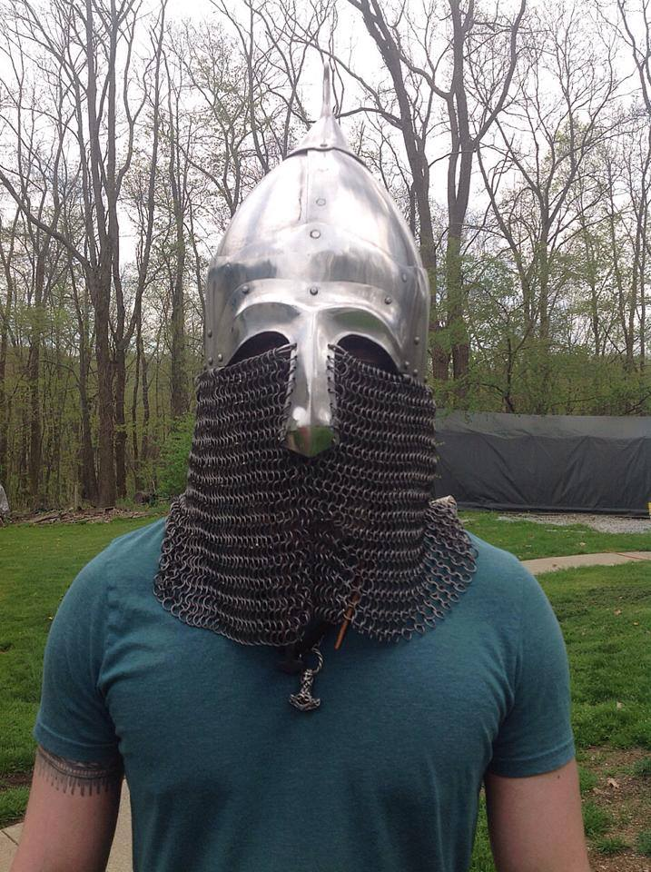 Medieval Slavic Fighting Helmet