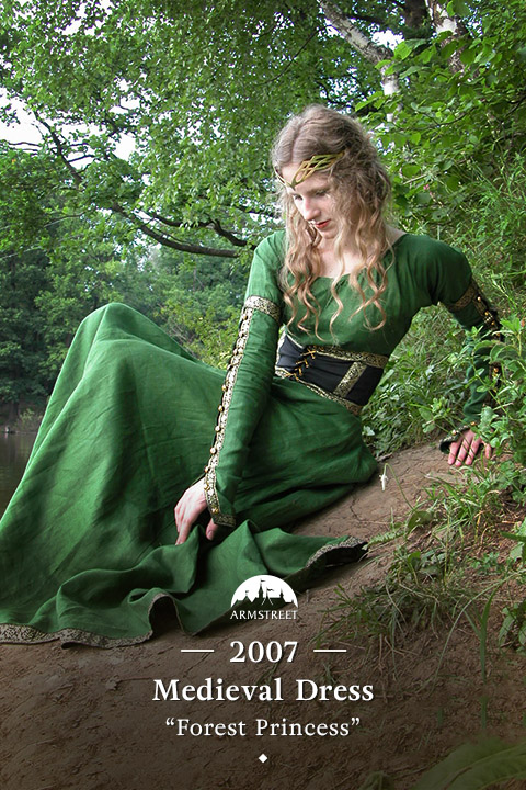 "Medieval dress ""Forest Princess"""