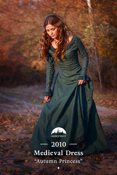"medieval dress ""Autumn princess"""