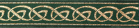 Celtic green-gold trim narrow