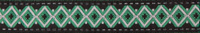 Ethnic green trim narrow