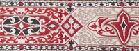 Rowena red trim wide