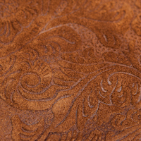 Ginger embossed leather