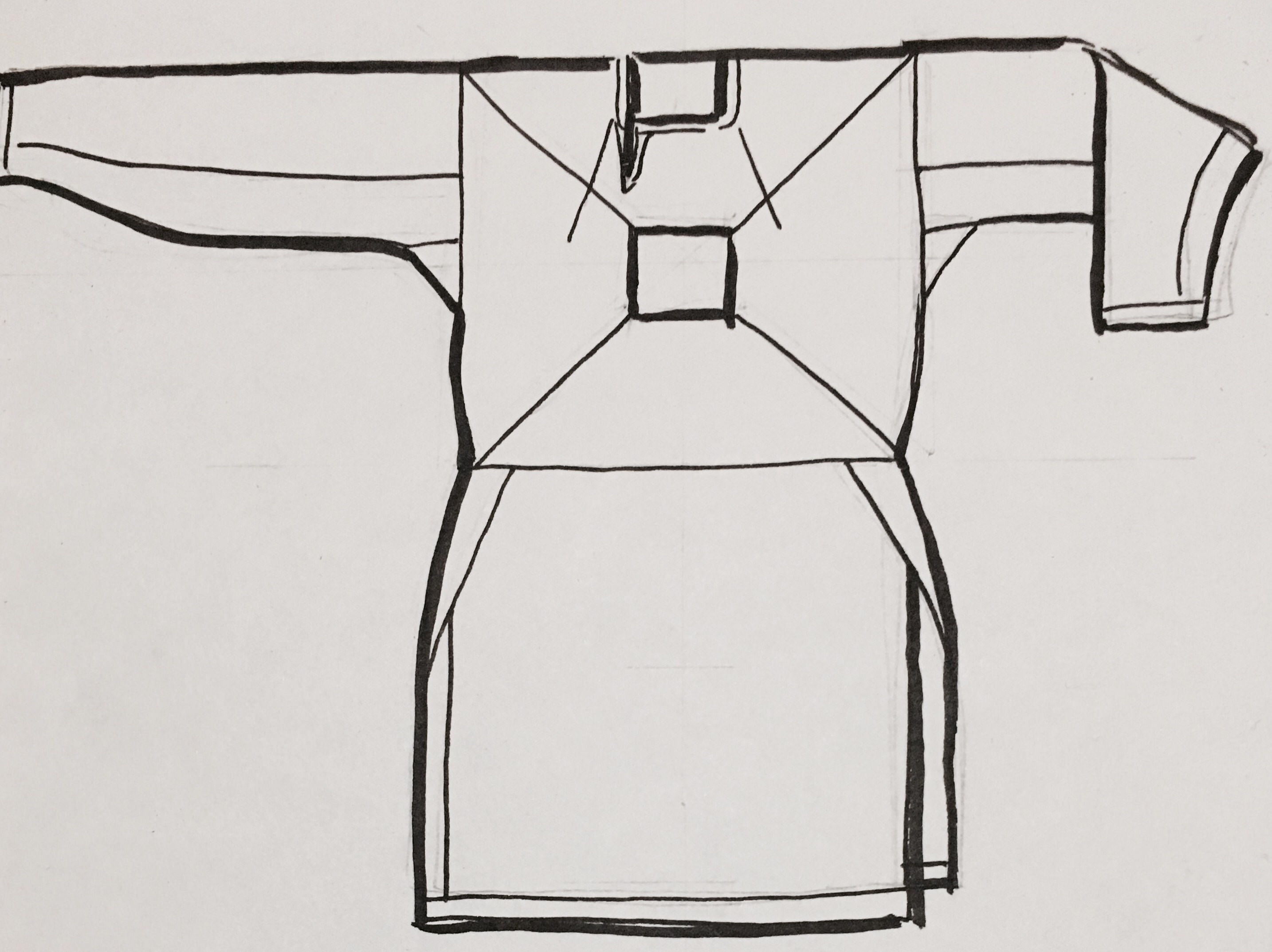 Reconstruction of the Viborg linen shirt. Denmark, 11th Century