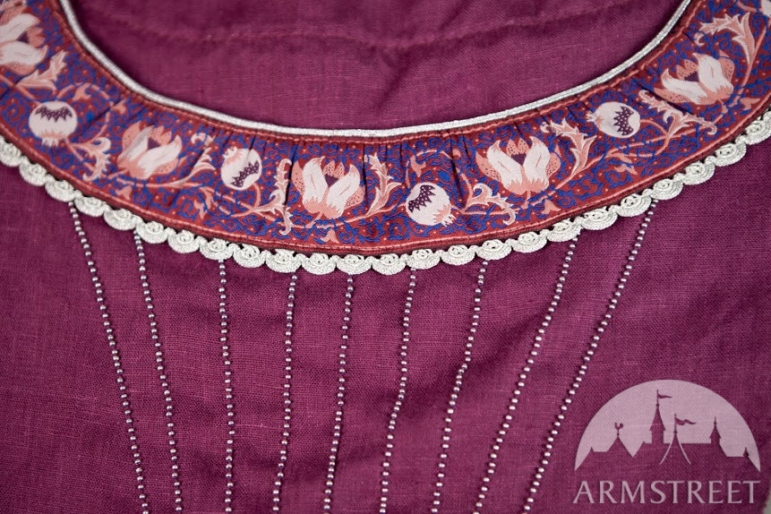 Violet purple linen with silver trim